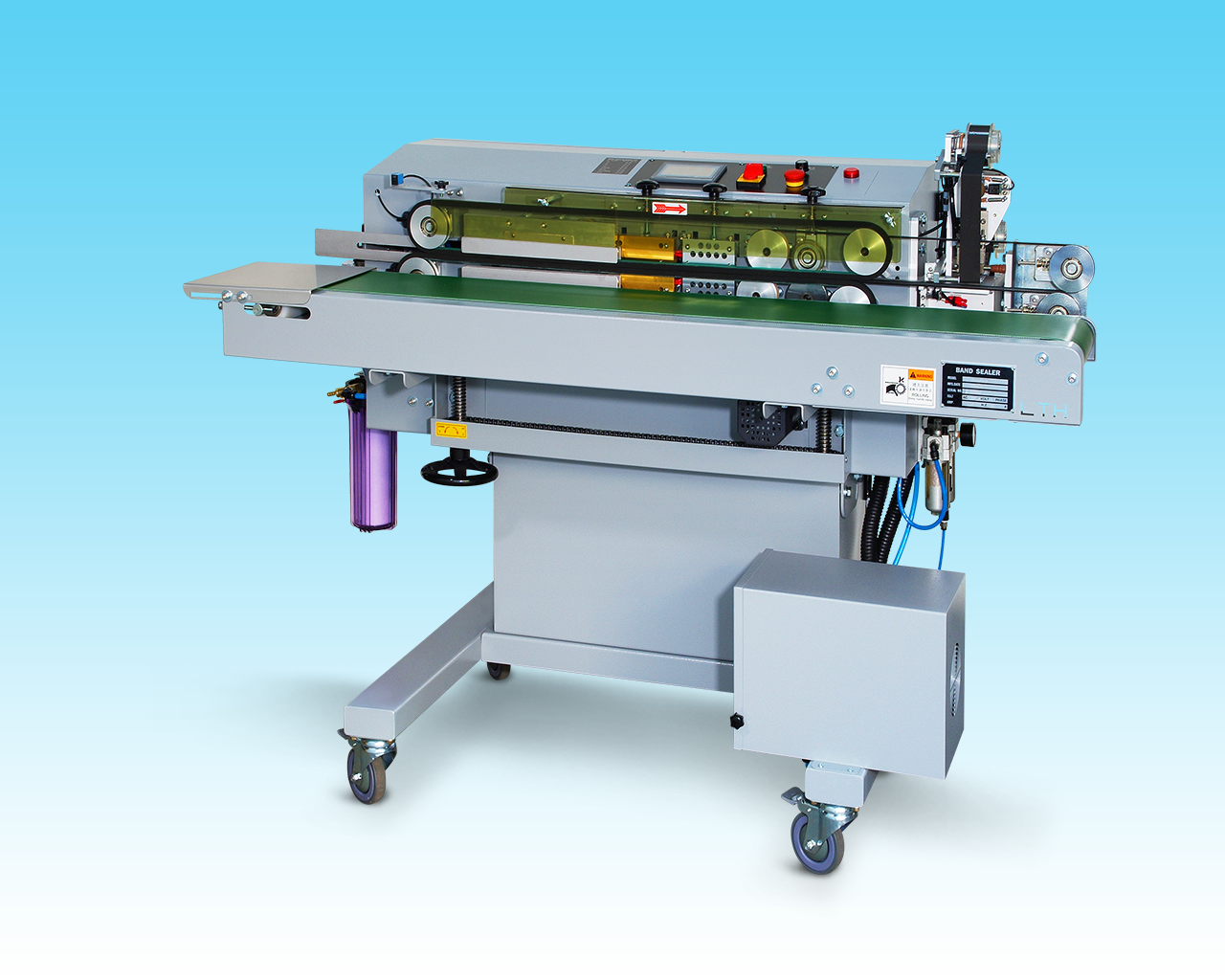 sealing packaging machine、band sealer、band sealing、sealing packaging、sealing machinery、sealer machine